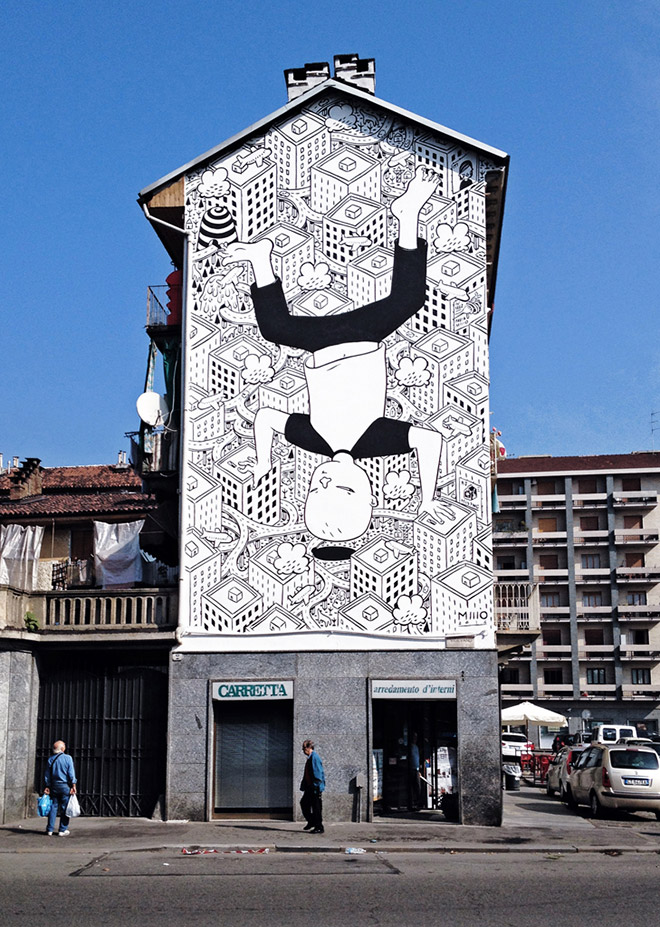 Street art, Mural #04 for Bart - Torino