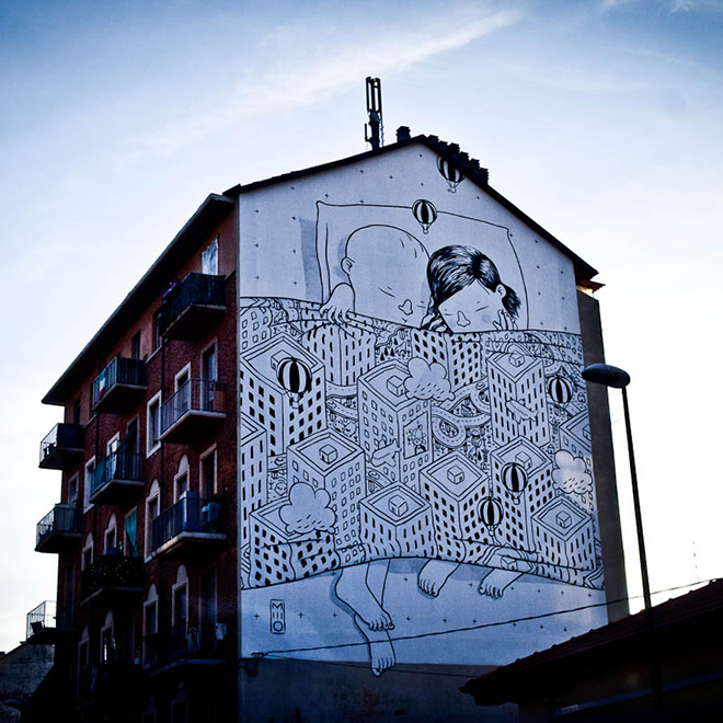 Street art, Mural #11 for Bart - Torino