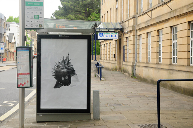 Oxford, artwork by Bill Posters