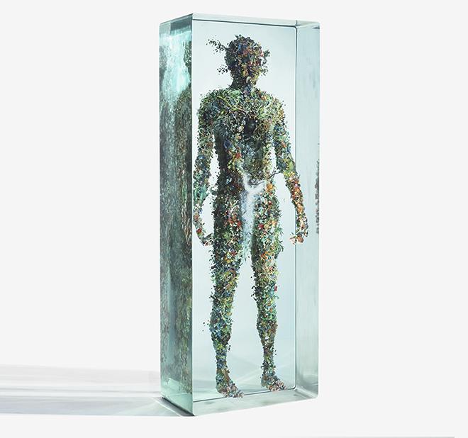 Psychogeography 39 - Spigot, 2013, glass, collage, acrylic
