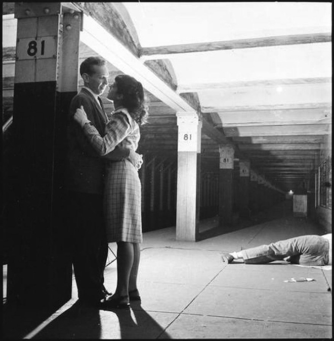 The New York subway,  by Stanley Kubrick