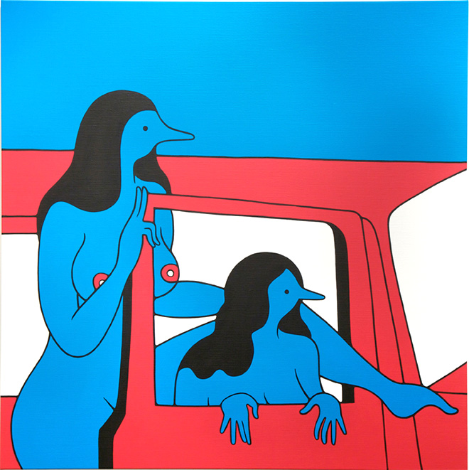 Parra, Get Out of the Car Please, 2014, Yer So Bad - Jonathan LeVine Gallery