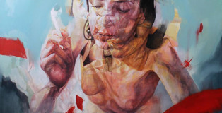 """Benjamin Garcia - """"There is no freedom from duality"""" - Oil and acrylic on canvas - 100 cm x 100 cm"""