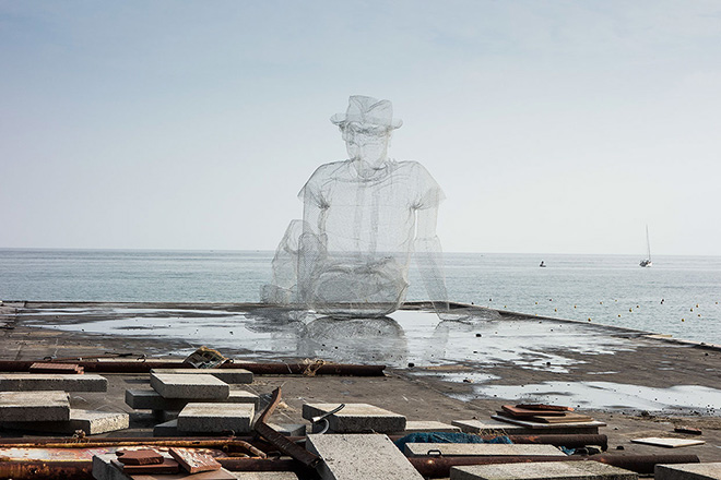 Edoardo Tresoldi - Thinkings - Oltre il Muro 2014, Sapri
