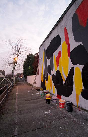 7Fragments, Wall painting, Grauen studio