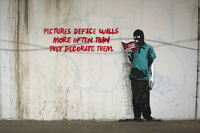 iHeart - Social media street art -  Picture deface walls more often than they decorate them