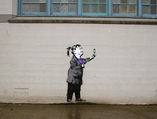 iHeart - Social media street art - Selfie