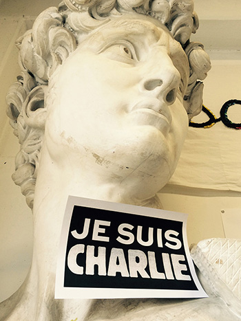 Charlie Hebdo - Academy of Fine Arts in Ravenna