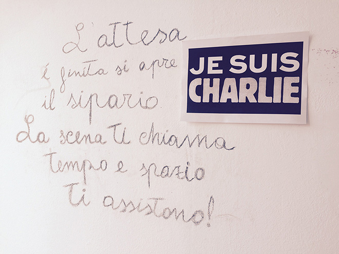 Je suis Charlie - Academy of Fine Arts in Ravenna