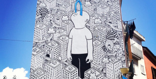 Millo - Street art, L'infinito negli occhi