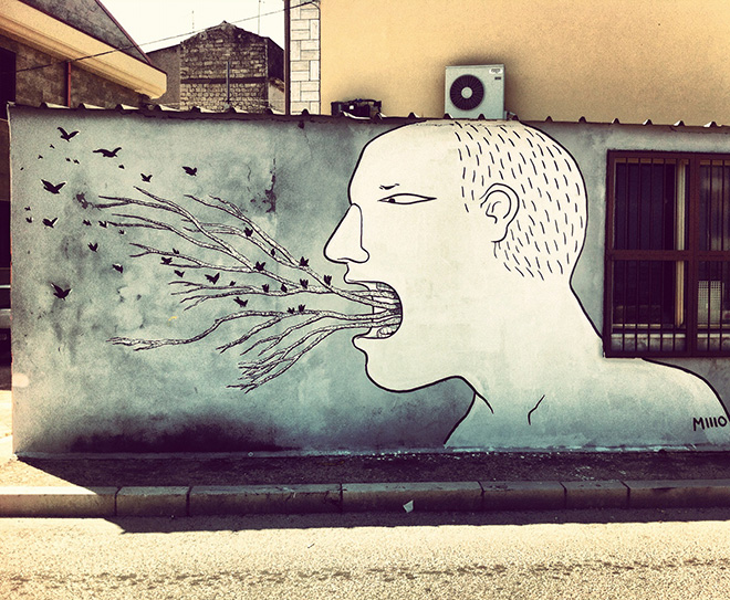 Street art, new wall at Lesina