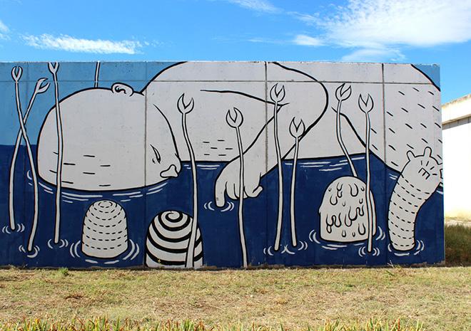 Street art, street artist in prison