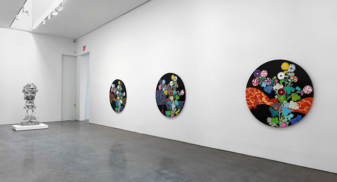 TAKASHI MURAKAMI: In the Land of the Dead, Stepping on the Tail of a Rainbow - Installation view - © 2014 Takashi Murakami/Kaikai Kiki Co., Ltd. All Rights Reserved.Photo by Rob McKeever