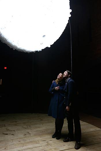 New Moon - Interactive Light Installation