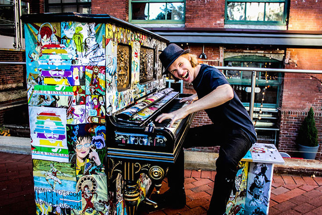 Street piano, Play me, I'm yours. Boston, Massachusetts, USA, 2013