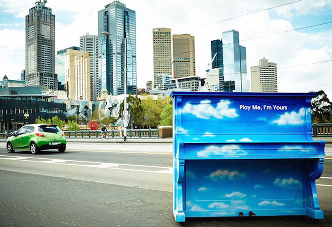 Street piano, Play me, I'm yours. Melbourne, Australia, 2014