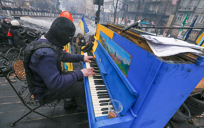 Street piano, Play me, I'm yours. Kiev, Ukraine, 2014