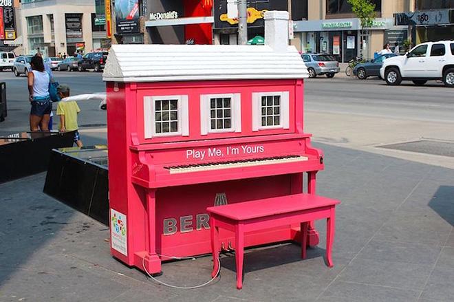 Street piano, Play me, Toronto, Canada, 2012