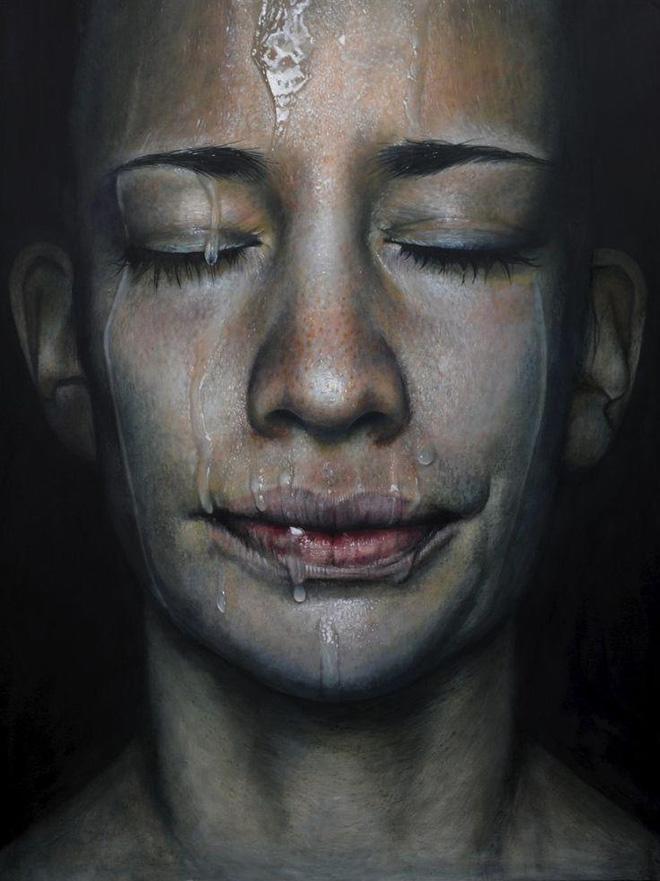 Erica Elan Ciganek - Resemblance, oil painting on wood, 2014