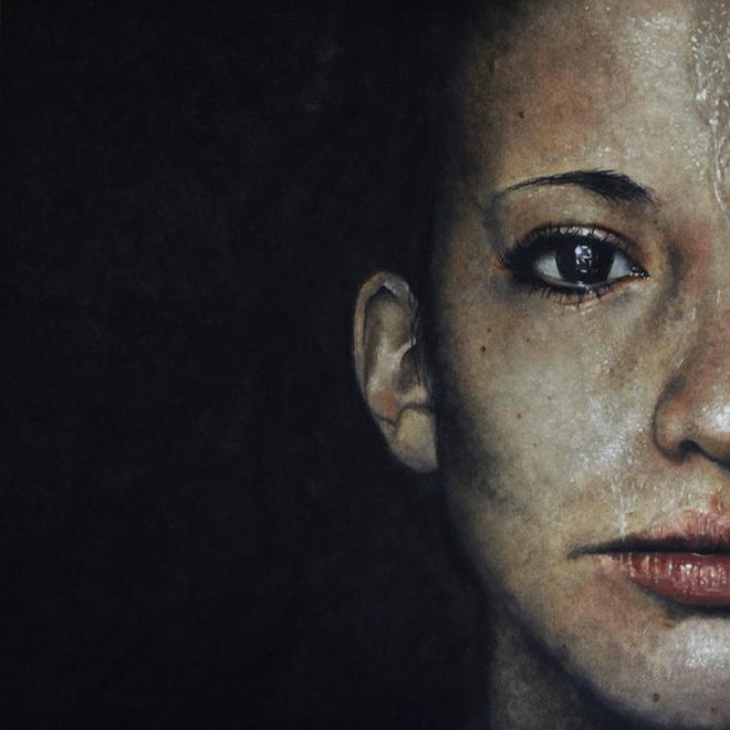 Erica Elan Ciganek - Maggie, Oil painting on Baltic Birch Plywood, 2014