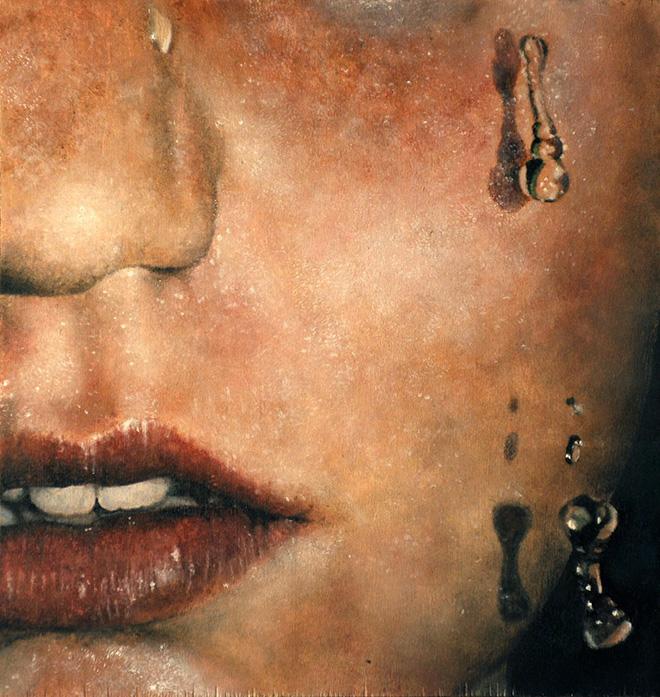 Erica Elan Ciganek - Just one, Oil on wood panel, 2011