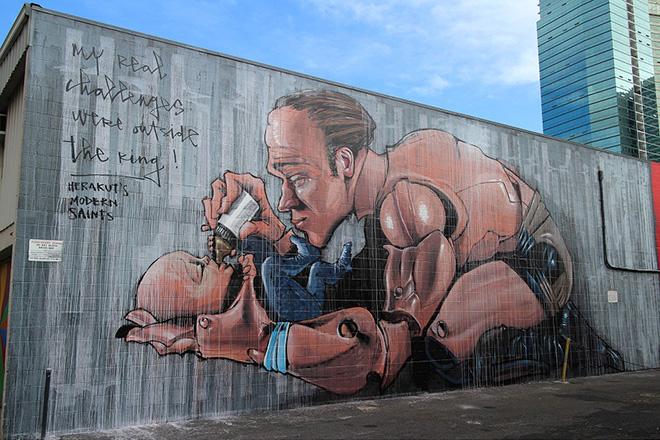 Akut murales - Pow Pow Hawaii street art festival