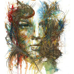 Carne Griffiths – New ink and tea portraits