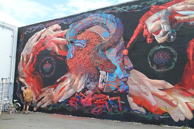 Case Maclaim & Smithe - POW! POW! Hawaii 2015 - Street art Festival