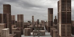 Matteo Mezzadri - Le città minime #1, © 2012, Pigmented Fine-Art Giclée, carta photo rag 100% cotone su alluminio d-bond, cm 100x100