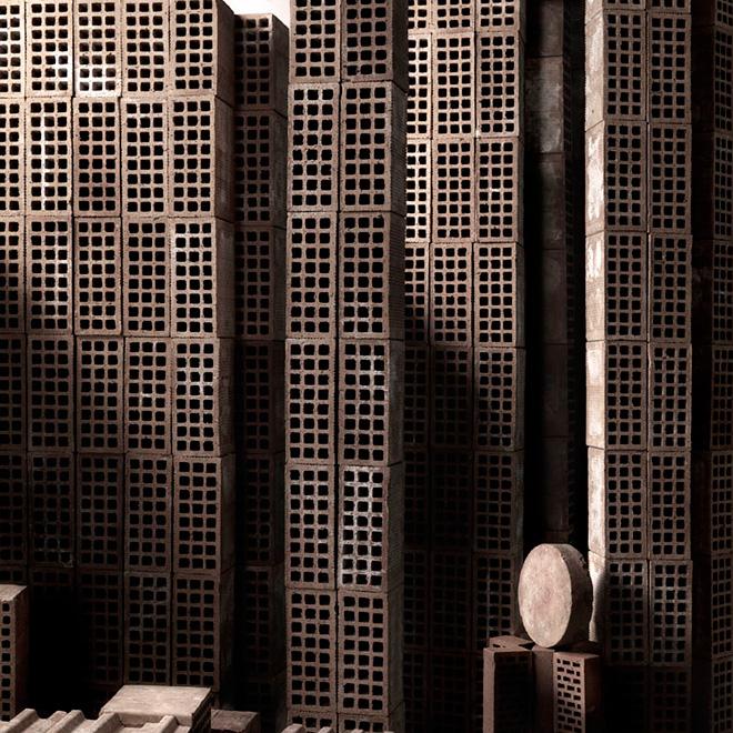 Matteo Mezzadri - Le città minime #4, © 2012, Pigmented Fine-Art Giclée, carta photo rag 100% cotone su alluminio d-bond, cm 100x100