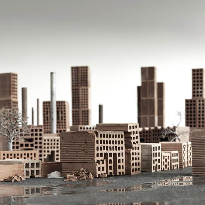 Matteo Mezzadri - Le città minime #5, © 2012, Pigmented Fine-Art Giclée, carta photo rag 100% cotone su alluminio d-bond, cm 100x100