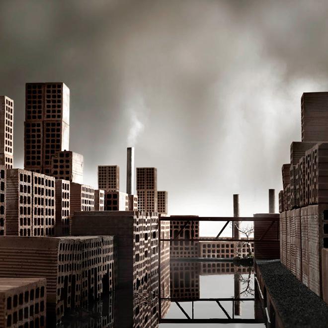Matteo Mezzadri - Le città minime #6, © 2012, Pigmented Fine-Art Giclée, carta photo rag 100% cotone su alluminio d-bond, cm 100x100