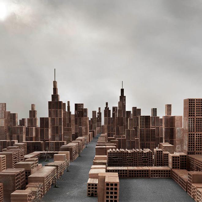 Matteo Mezzadri - Le città minime #7, © 2012, Pigmented Fine-Art Giclée, carta photo rag 100% cotone su alluminio d-bond, cm 100x100