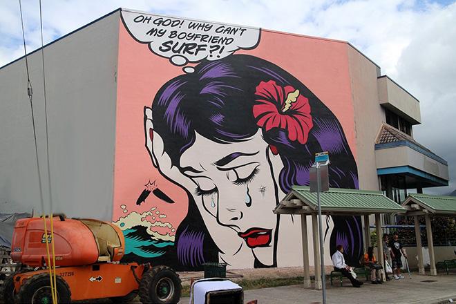 D*Face murales - Pow Pow Hawaii street art festival