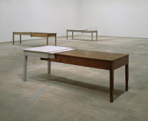 Doris Salcedo - Installation view, SITE Santa Fe, New Mexico, 1998–99. Photo: Herbert Lotz. Reproduced courtesy of the artist; Alexander and Bonin, New York; and White Cube, London.