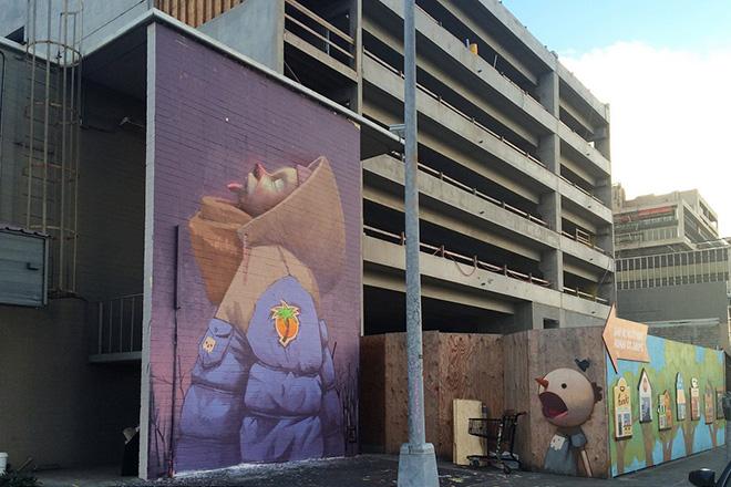 Etam Cru murales - Pow Pow Hawaii street art festival