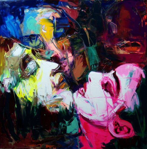 Françoise NIELLY, UNTITLED 851 - Artwork visible at: FRANCE, Oil on canvas, palette knife technique