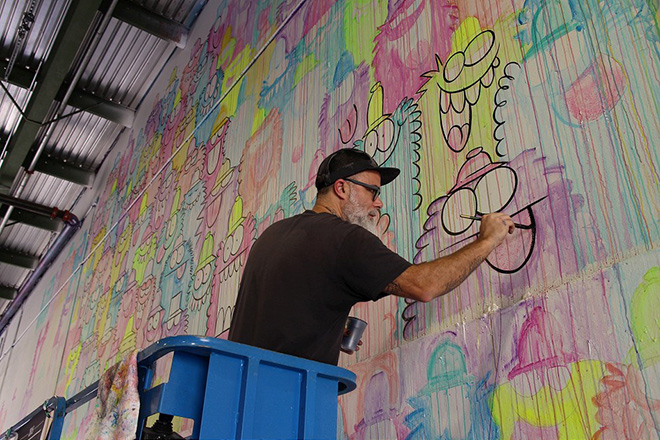 Kevin Lyons murales - Pow Pow Hawaii street art festival