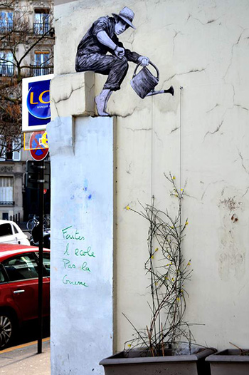 Levalet - Patience, street art - Paris