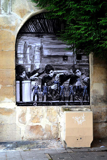 The factory, street art - Paris