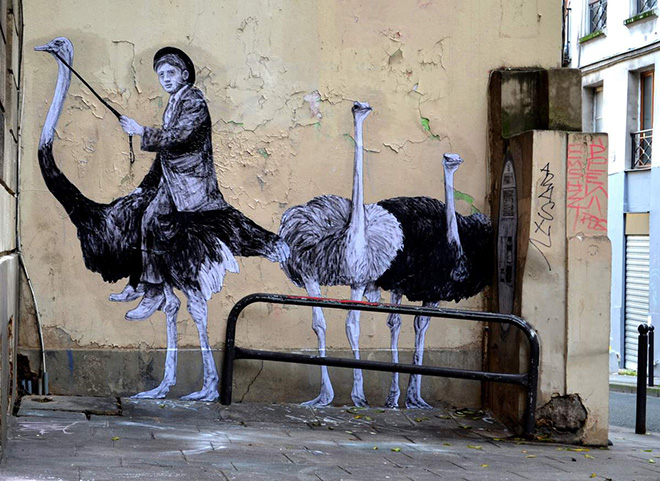 Locomotion, street art