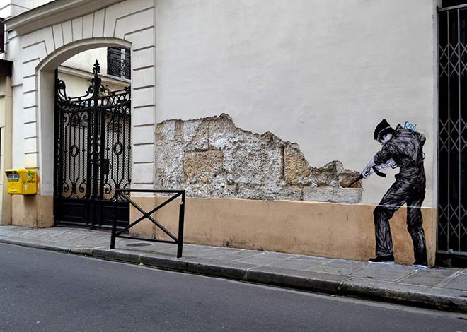 Levalet - Palimpseste, street art - Paris
