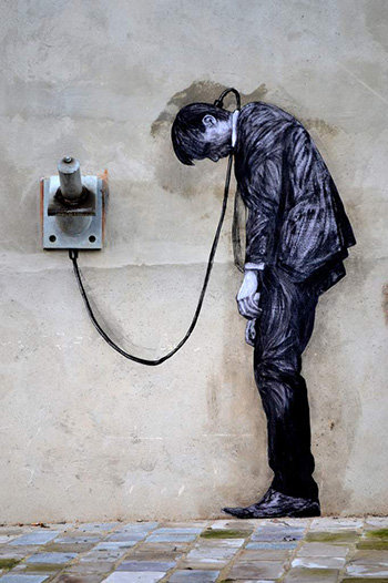 Levalet - REload (detail), street art - Paris