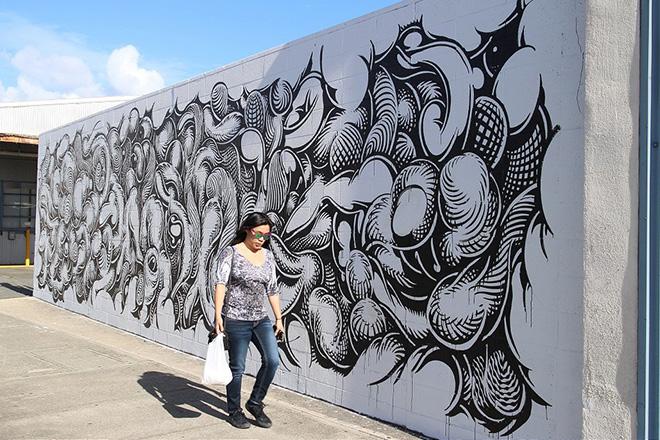 Mark Dean Vecamurales - Pow Pow Hawaii street art festival