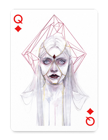 Queen of Diamonds by agnes-cecile from Italy
