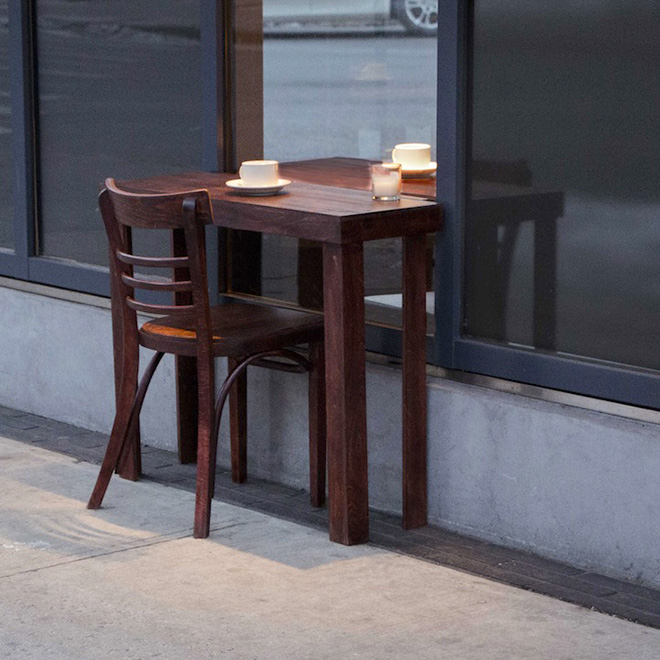 Shani Ha - Table for two, New York installation