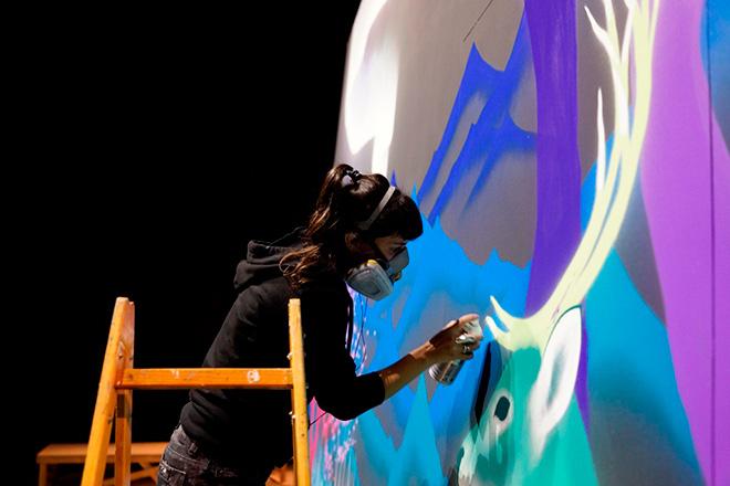 Pirelli - Street Art annual report 2014 - Marina Zumi