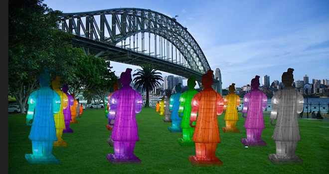 The Lanterns of the Terracotta Warriors - Chinese new year Festival, Sidney