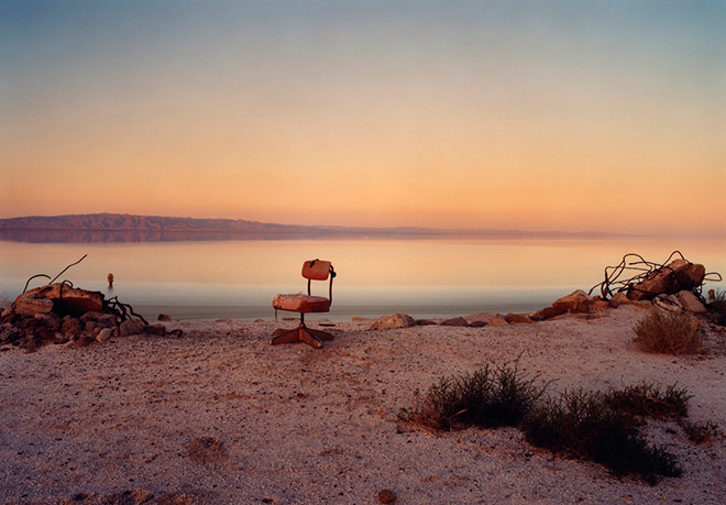 "Marcus Doyle, ""Red Chair"" (date unknown), North Shores, Salton Sea, California"
