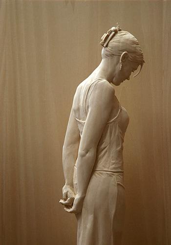 Peter Demetz - Sculture in legno, ho deciso, tiglio, 46,5 x 41 x 13,5 cm - 2009